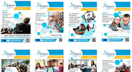 Ir a Scientix 'Materiales para descargar'
