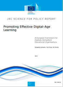 Marco en inglés. JRC Science for policy report. Promoting Effective digital-Age Lerarning.